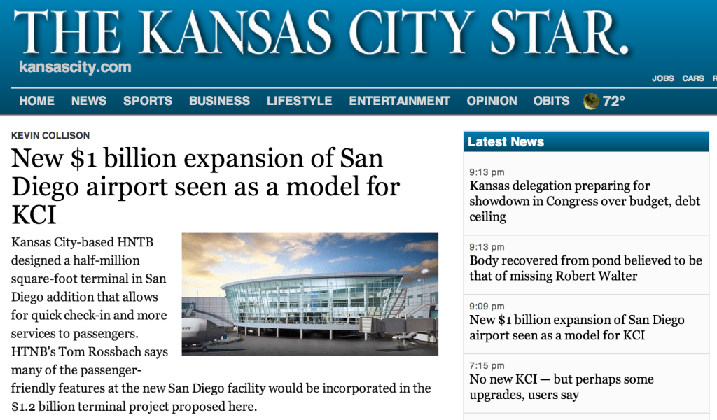 Airport Envy Flies To San Diego While KC Star Shills For Terminal
